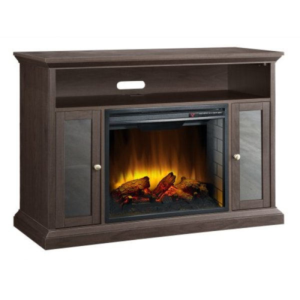 best electric fireplace tv stand Reviews-Pleasant Hearth 23-Inch Riley Espresso Media Electric Fireplace Review
