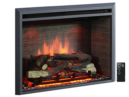 best electric fireplace heater reviews -PuraFlame Western 33 inch Embedded Electric Firebox Heater