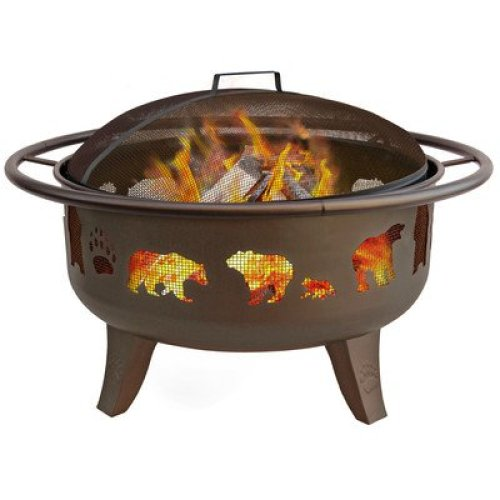 Best fire pit reviews - Landmann Patio Lights Firedance Bear and Paw Wood Burning Fire Pit