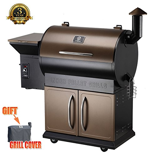 Z Grills Wood Pellet Grill with Patio Cover