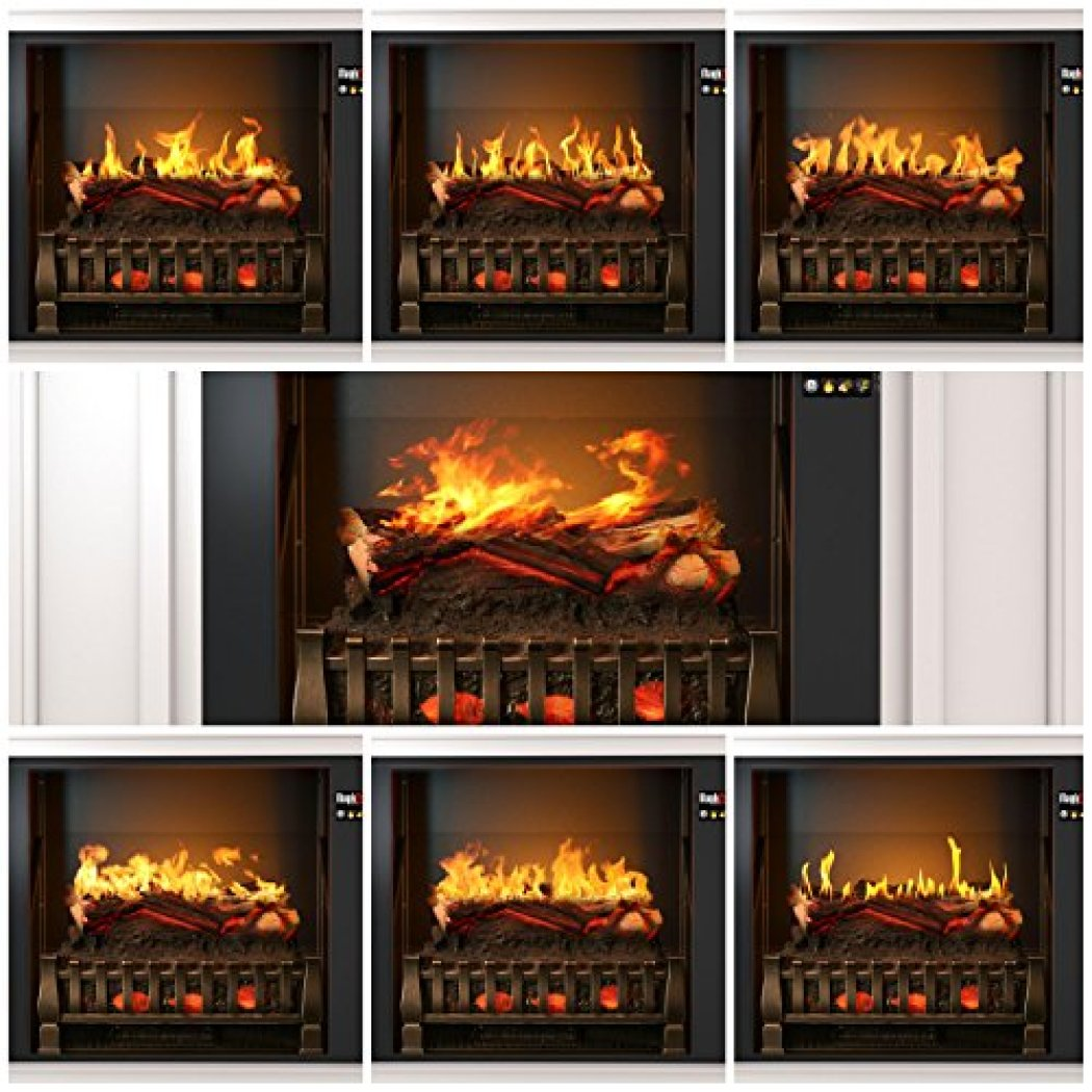 """Best wall mantel electric fireplace - The MagikFlame 28"""" HoloFlame Artemis Wall Mantel Electric Fireplace Superior flame effects"""