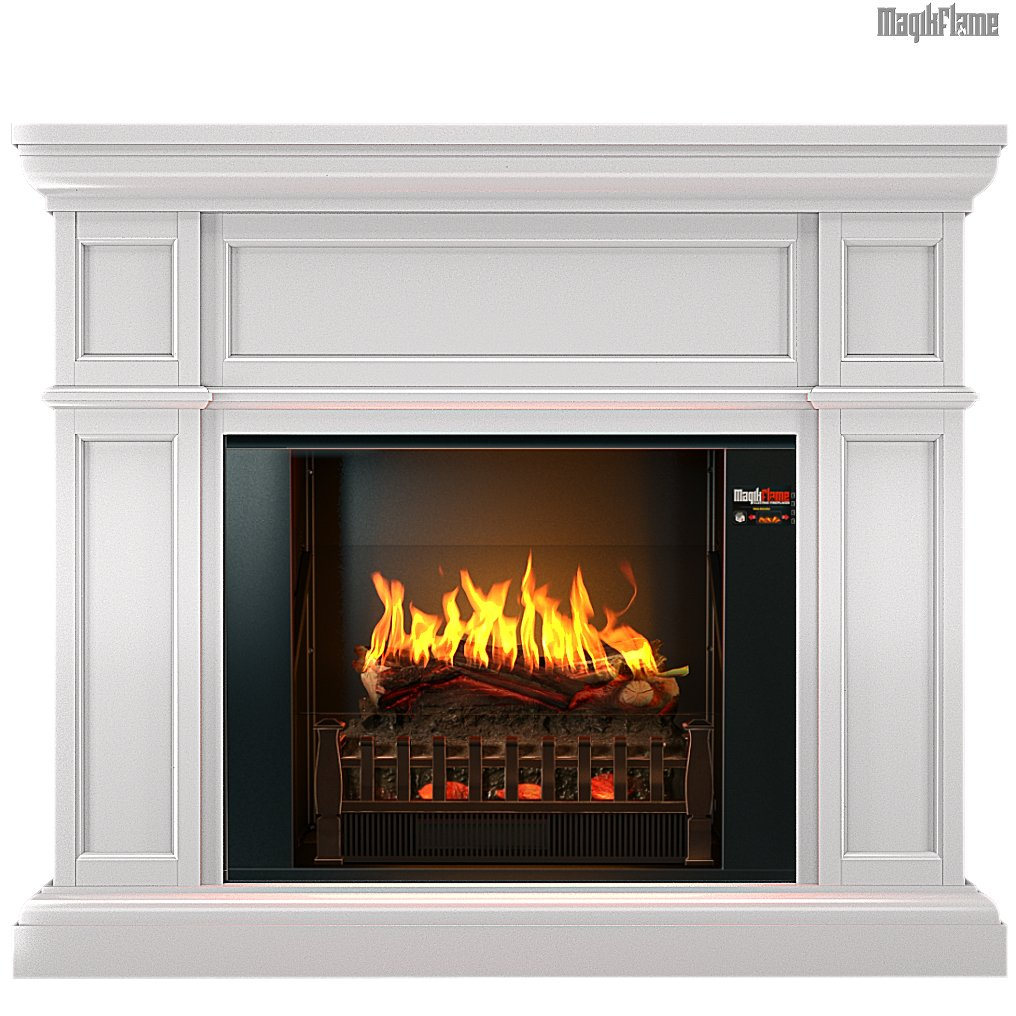 """Best wall mantel electric fireplace - The MagikFlame 28"""" HoloFlame Artemis Wall Mantel Electric Fireplace Heater functions"""