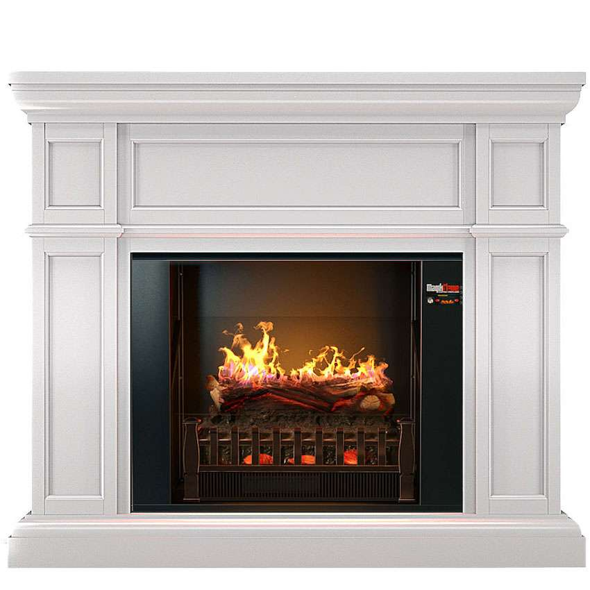 Best wall mantel electric fireplace - Artemis_Holographic_Fireplace_Front