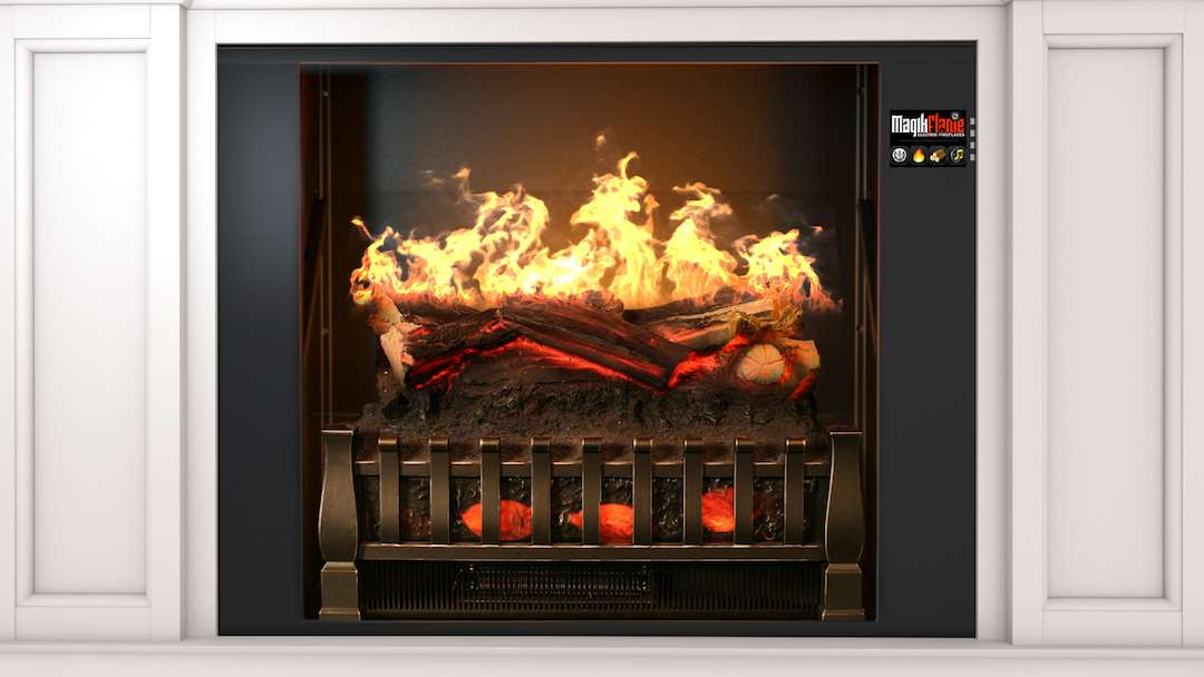 "Best wall mantel electric fireplace - MagikFlame 28"" HoloFlame Artemis Wall Mantel Electric Fireplace Performance"