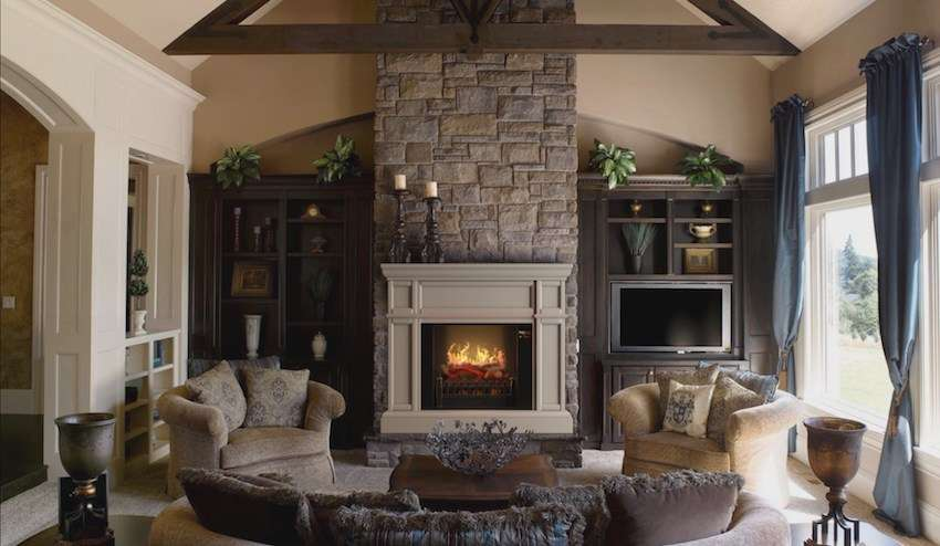"""Best wall mantel electric fireplace - MagikFlame 28"""" HoloFlame Artemis Wall Mantel Electric Fireplace"""