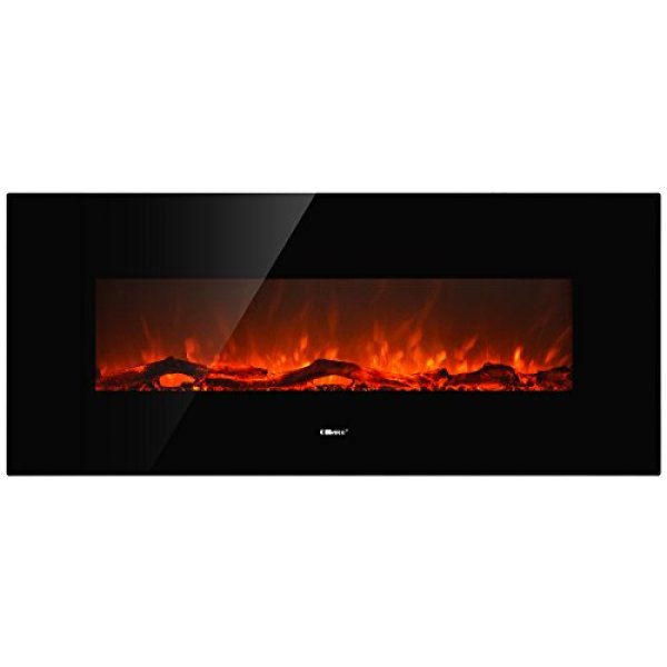 "Ollieroo 50"" Smokeless Wall Mounted Electric Fireplace Review"