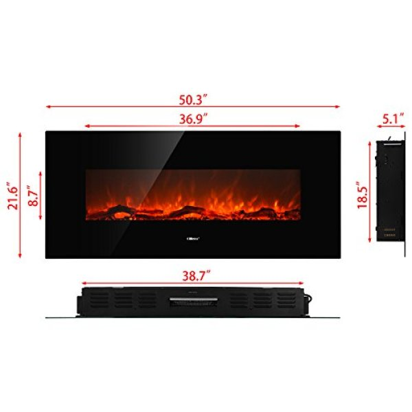 How Durable and affordable Ollieroo Smokeless Wall Mounted Electric Fireplace?