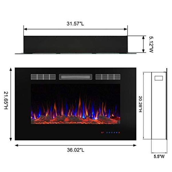 Valuxhome Armanni Wall Recessed Electric Fireplace Heater Review