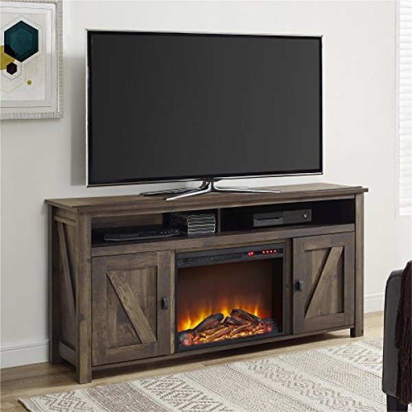 Best electric fireplace tv stand 2018: Ameriwood Home Farmington Electric Fireplace TV Console