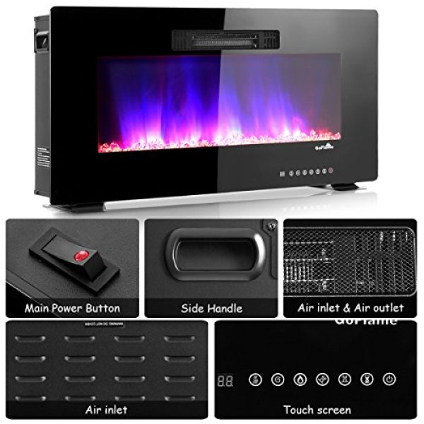 What's the Disadvantage of TANGKULA Wall Mount Recessed Electric Fireplace Heater