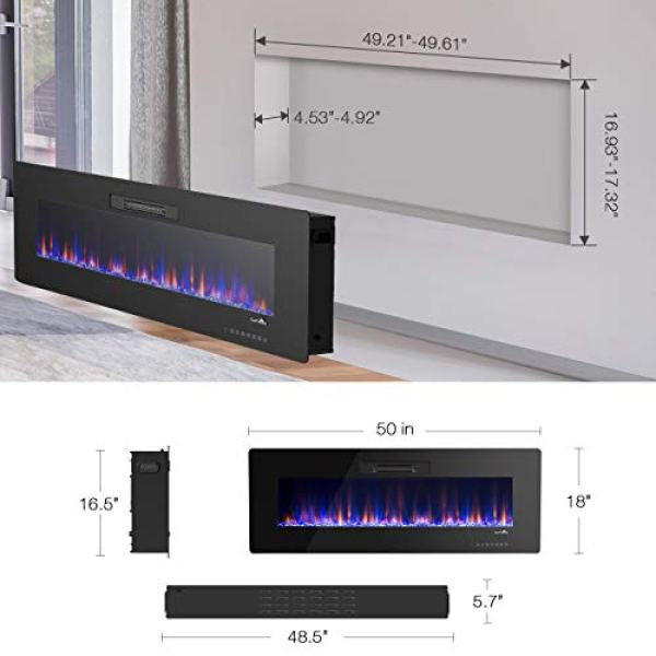 Compare Classic Flame 36II100GRG vs. TANGKULA Wall Mount Recessed Electric Fireplace Heater