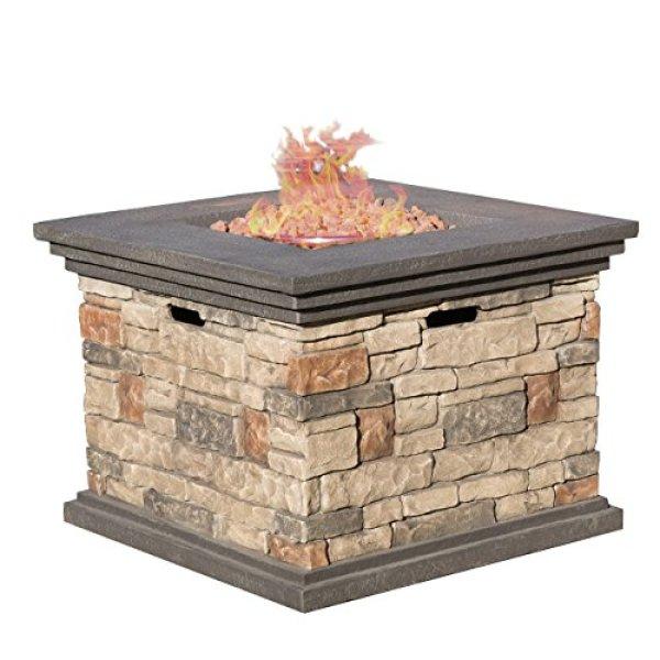 Compare Crawford Outdoor Square Propane Fire Pit vs. Stonecrest Patio Furniture Outdoor Propane Fire Pit