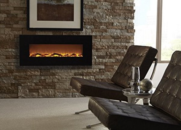 Best wall mount electric fireplace 2018: Touchstone 80001 Onyx Wall Hanging Electric Fireplace