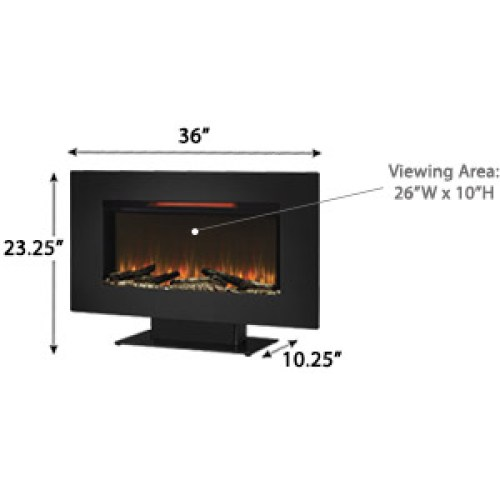 What's the Disadvantage of Classic Flame 36II100GRG Elysium Wall Mounted Fireplace