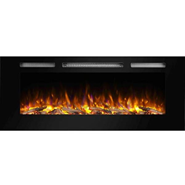 Compare PuraFlame Alice Recessed Electric Fireplace vs. Touchstone ValueLine Recessed Electric Fireplace