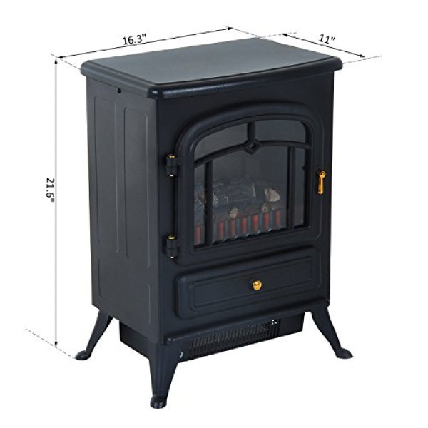 What's the Disadvantage of HomCom Free Standing Electric Wood Stove Fireplace Heater