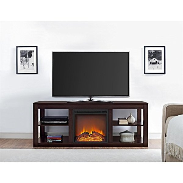 What Users Saying About Ameriwood Home Parsons Console Fireplace TV Stand