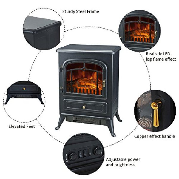 What Users Saying About HomCom Free Standing Electric Wood Stove Fireplace Heater