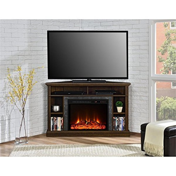 Ameriwood Home Parsons Console Fireplace TV Stand vs. Ameriwood Home Overland Electric Corner Fireplace TV Stand
