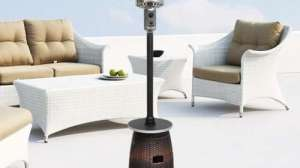 Tall Resin Wicker Patio Heater Table Review