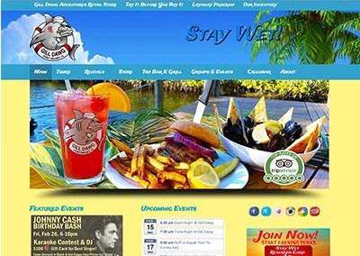 Gill Dawg Marina and Tiki Bar Website Design | Port Richey, Florida