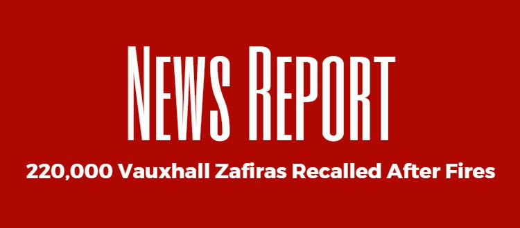 vauxhall zafiras recalled