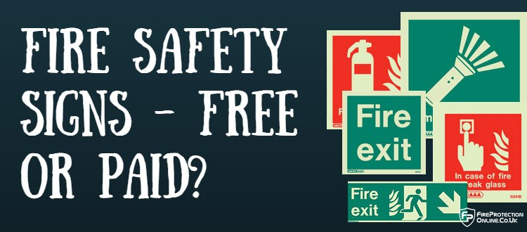fire safety sign free or paid