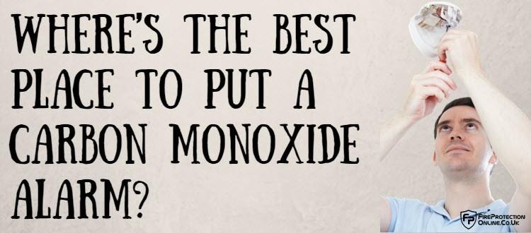 best place to put a carbon monoxide alarm