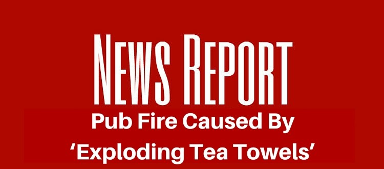 pub fire tea towels
