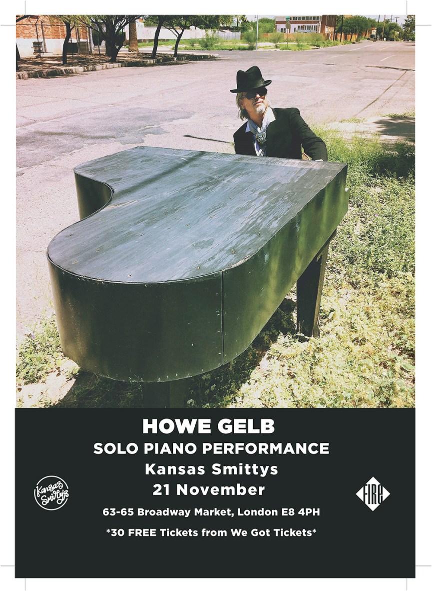 Howe Gelb Free Entry Album Launch Party 21 Nov
