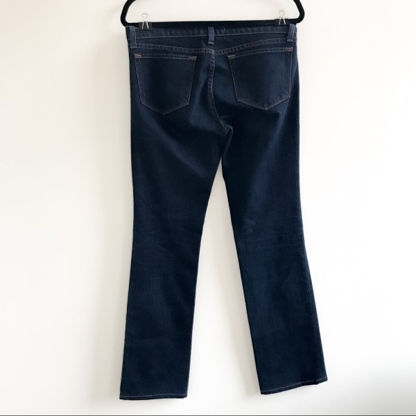 J Brand low rise straight leg jeans dark wash in ink size 29