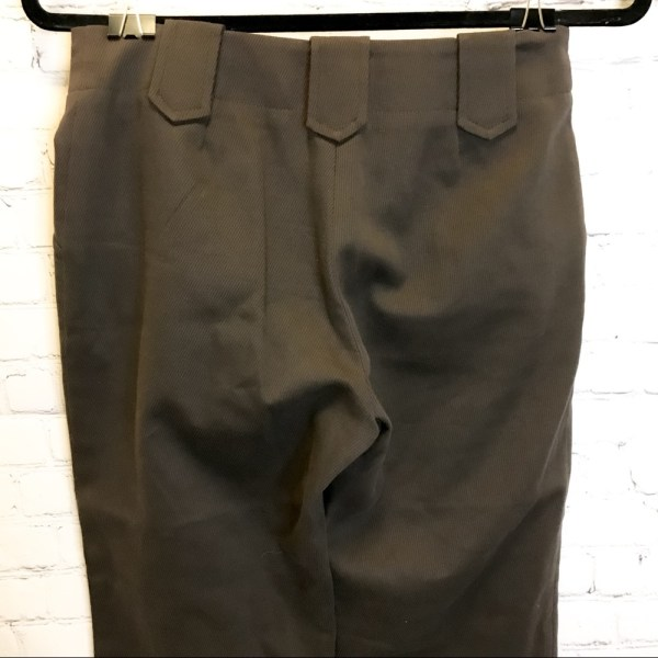 Shin Choi brown ribbed mid rise straight leg dress pants size 4