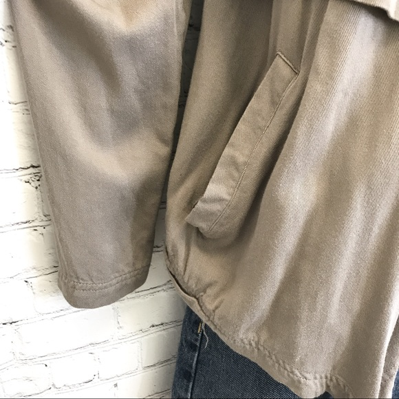 O'neill khaki waterfall front open Jacket size small