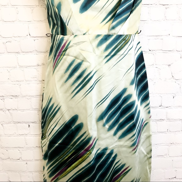 The Limited green strapless 100% silk Dress size 0