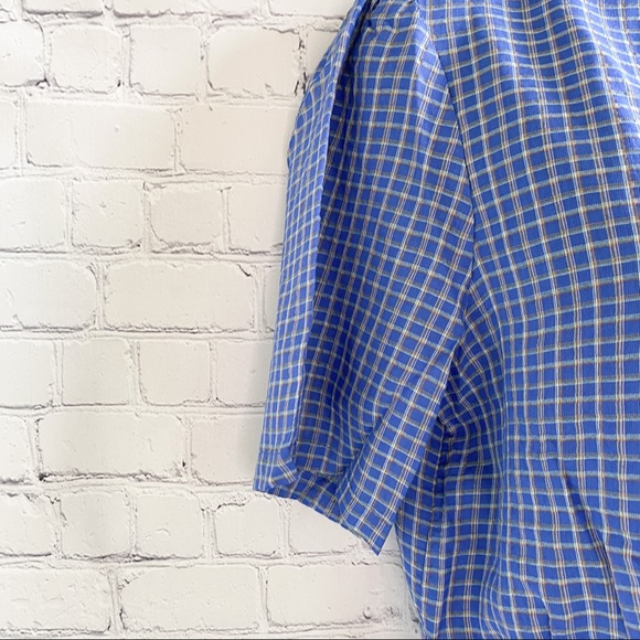 The East Order Mahlia blue checked crop top medium
