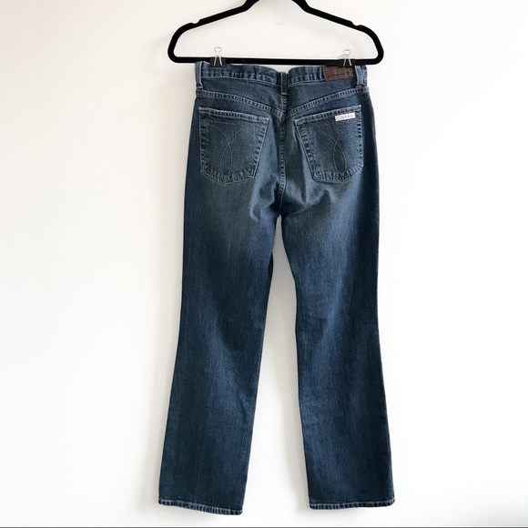 Calvin Klein Faded Blue Wash Boot Cut Jeans size 8