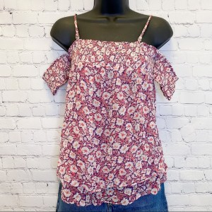 Rebecca Minkoff Pia floral off the shoulder top size XS