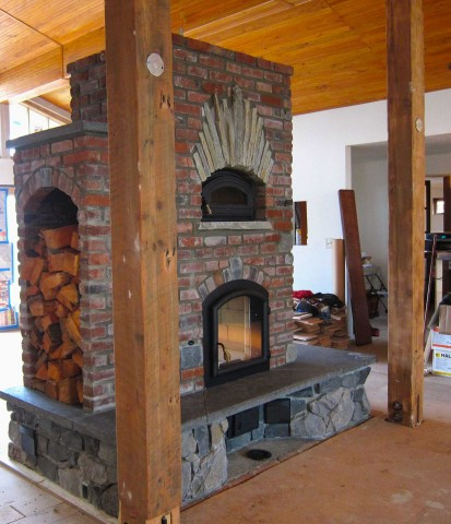 Masonry Heater At The Allen S Portland Or Firespeaking