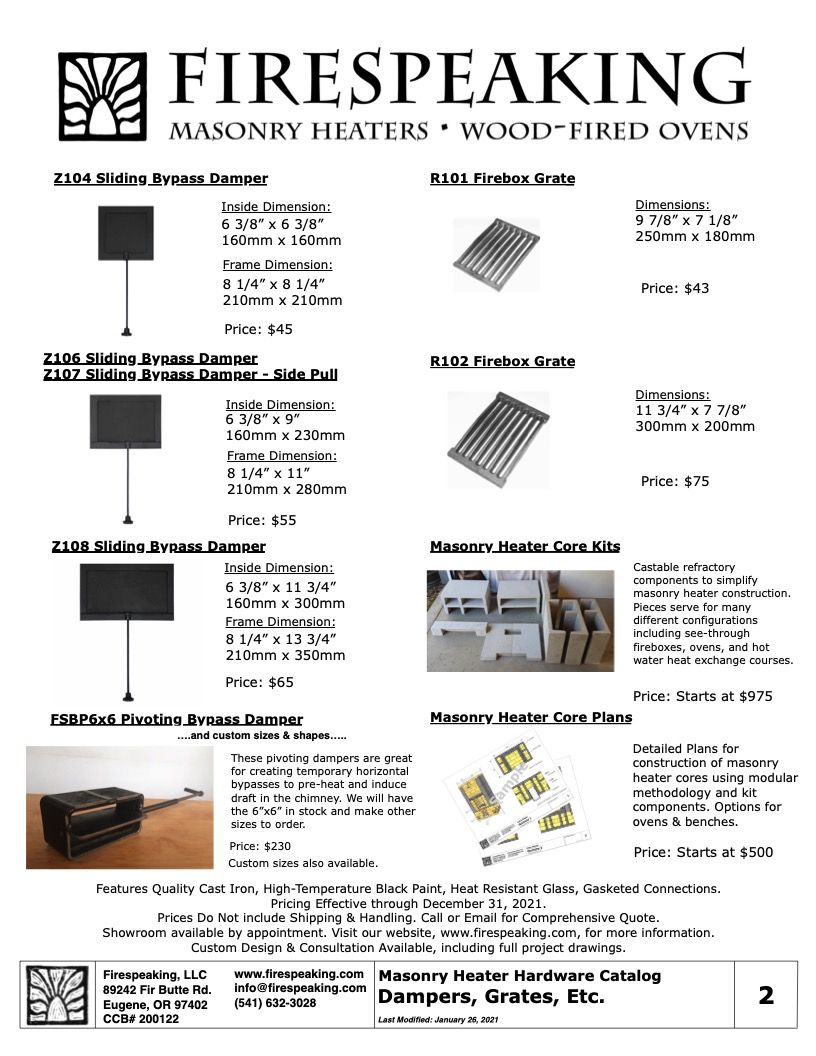 Heater Hardware Catalog - 2