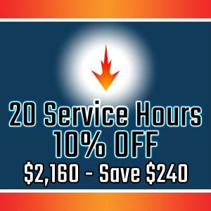 20 Service Hours, Prepaid