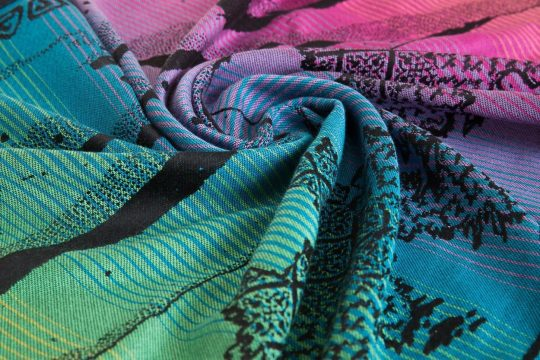 Bifrost-obsidian-charters-moss-woven-wrap-weft-face-rainbow