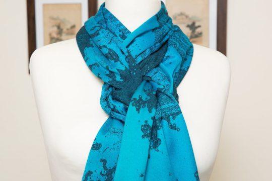Blue Grad Navy Seafoam scarf