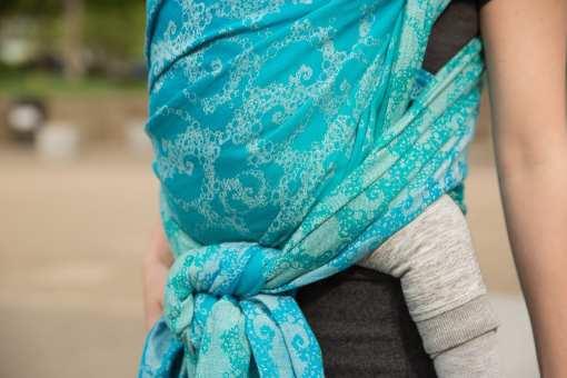 Seaspray Cyano Tentacular Spectacular - woven wrap