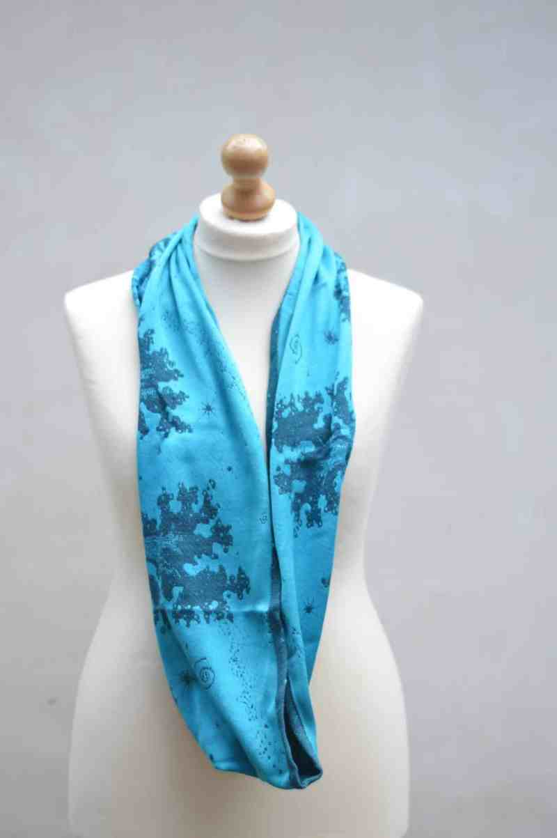 night's watch cyano seafoam loop scarf
