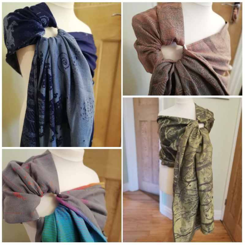 ring sling collage