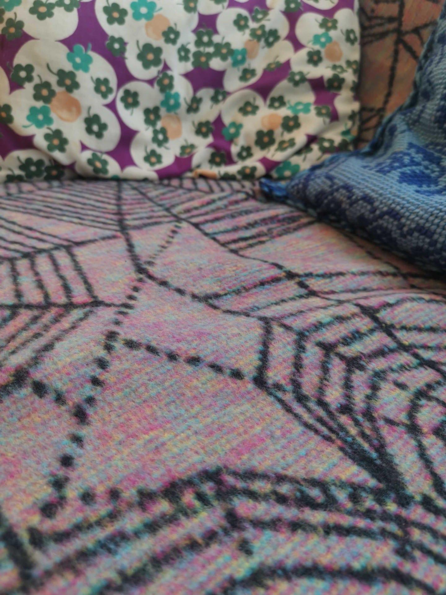 CMYK Obsidian Gossamer Blanket