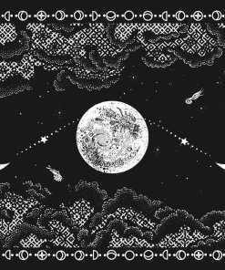 Dark grey Nocturne blanket mockup
