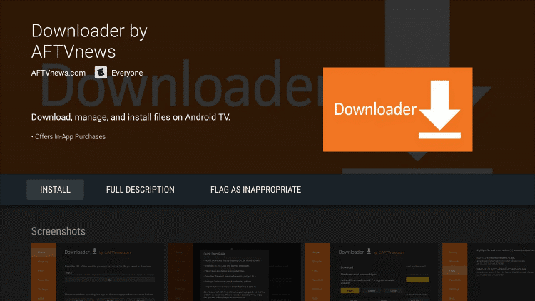 downloader op Android-box