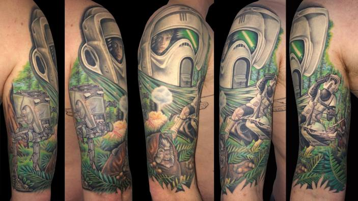 star wars tattoo Sarah Eastick Fire Vixen Tattoos