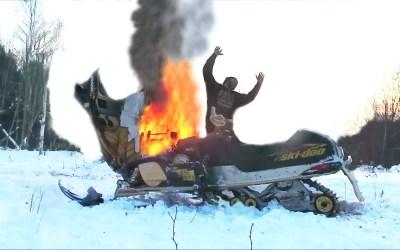 Snowmobile fire hazard